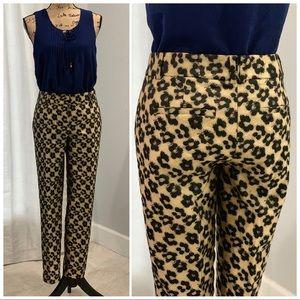🛍 Ann Taylor jacquard bold print pants size 6